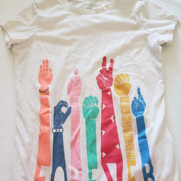 NWT Girl/'s Cat And Jack graphic T-Shirt M 7-8
